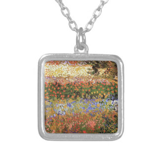 Flowering Garden,Vincent van Gogh. Silver Plated Necklace