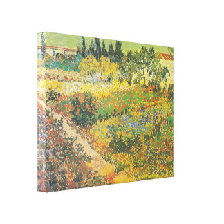 Flowering Garden with Path 1889 by Van Gogh Gallery Wrap Canvas