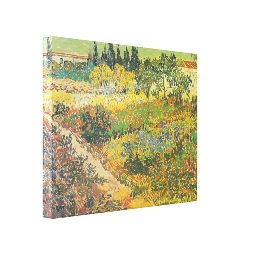 Flowering Garden with Path (1889) by Van Gogh Gallery Wrap Canvas