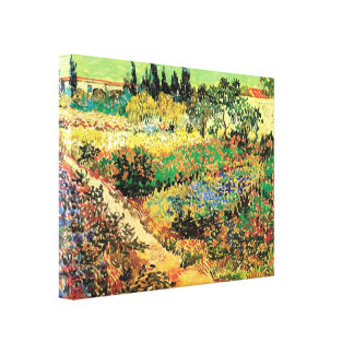Flowering Garden with Path by Vincent van Gogh Stretched Canvas Prints