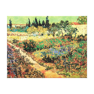Flowering Garden With Path Canvas Prints
