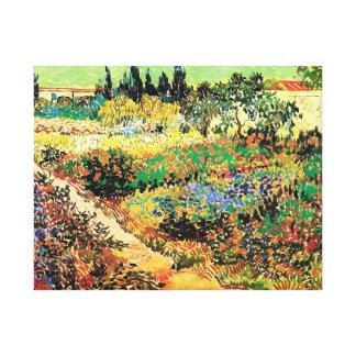 Flowering Garden with Path Vincent van Gogh Gallery Wrap Canvas