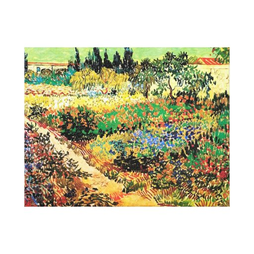 Flowering Garden with Path, Vincent van Gogh Gallery Wrap Canvas