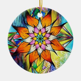 Flowering Life Round Ceramic Decoration
