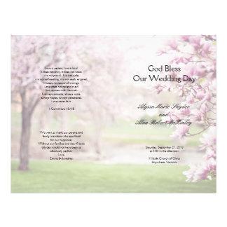 Flowering Magnolia Christian Wedding Program 21.5 Cm X 28 Cm Flyer