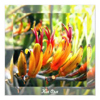 Flowering New Zealand Flax 13 Cm X 13 Cm Square Invitation Card