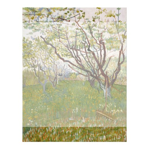 Flowering Orchard by Vincent Van Gogh Custom Flyer