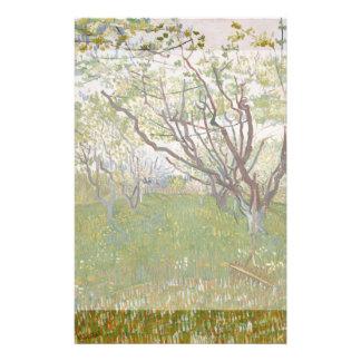 Flowering Orchard by Vincent Van Gogh Full Color Flyer