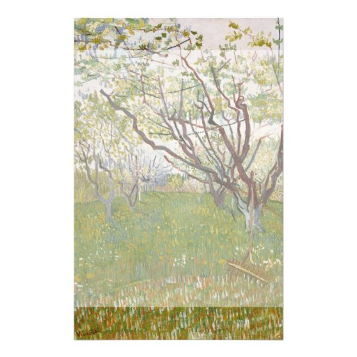 Flowering Orchard by Vincent Van Gogh Full Color Flyer