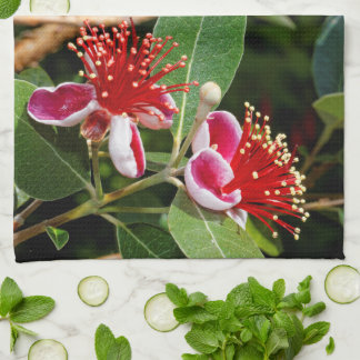 Flowering Pineapple Guava / Guavasteen Tea Towel