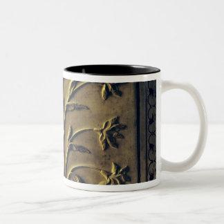 Flowering plant, detail panel Two-Tone coffee mug