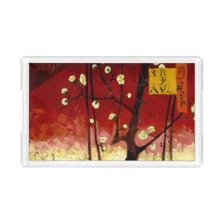 Flowering Plum Tree After Hiroshige by Van Gogh Acrylic Tray
