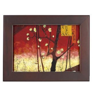 Flowering Plum Tree after Hiroshige by Van Gogh Keepsake Box