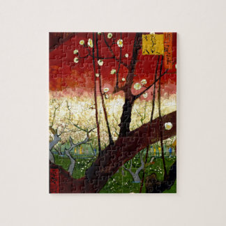 Flowering Plum Tree after Hiroshige by Van Gogh Puzzle
