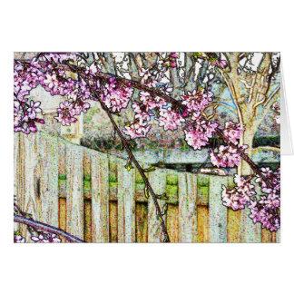 Flowering Plum Tree Branch Card