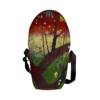 Flowering Plum Tree (Hiroshige) Van Gogh Fine Art Courier Bags