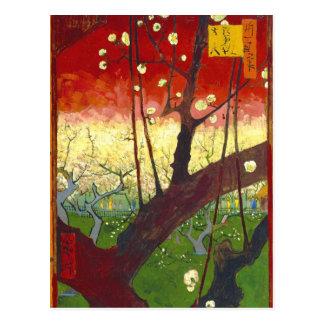 Flowering Plum Tree (Hiroshige) Van Gogh Fine Art Postcard