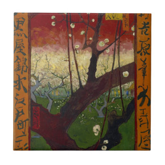 Flowering plum tree Tile