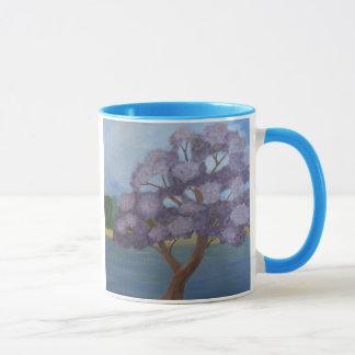 flowering purple mug