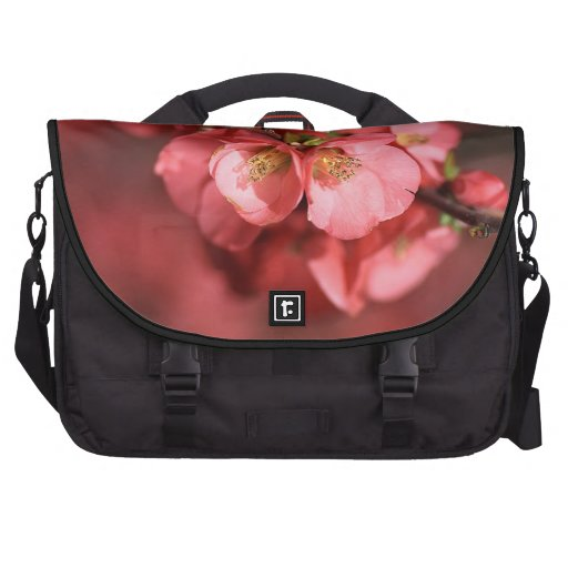 Flowering Quince Red - laptop Bag