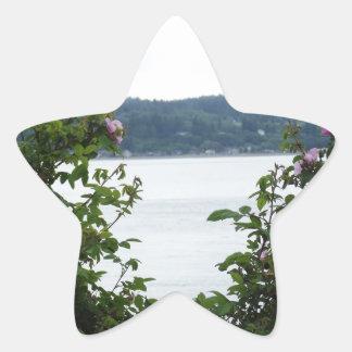 Flowering Shrubs on the Water Star Sticker