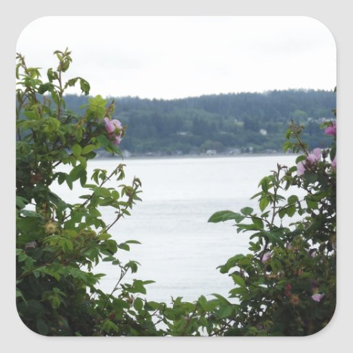 Flowering Shrubs on the Water Sticker