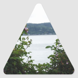 Flowering Shrubs on the Water Triangle Sticker