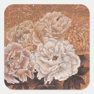 Flowering Shrubs Square Sticker