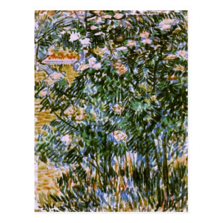 Flowering Shrubs, Van Gogh Fine Art Postcard