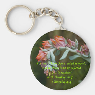 Flowering Succulent Key Ring