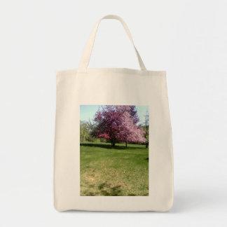 flowering tree grocery tote grocery tote bag