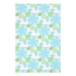 Flowering Vine Abstract Retro Personalized Stationery