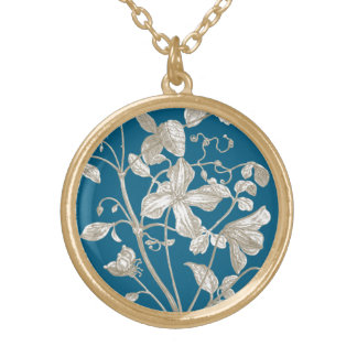Flowering Vine Botanical Gold Plated Necklace