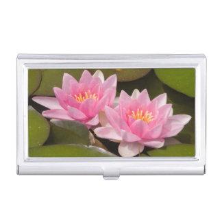 Flowering water lilies business card holder