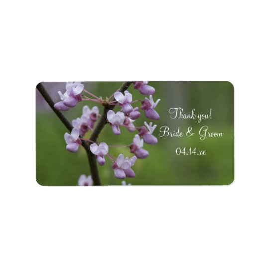 Flowering Wedding Tree Thank You Favour Tag Address Label