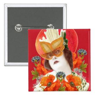 flowerLadyMangoHead II 15 Cm Square Badge