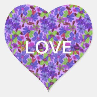 Flowermania Heart Sticker
