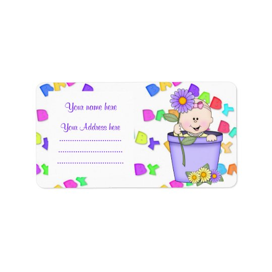 FLOWERPOT BABY ADDRESS LABEL