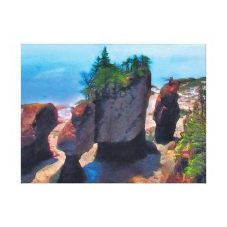 Flowerpot Rocks Canvas Print