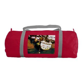 Flowerpot sports bag with a face gym duffel bag