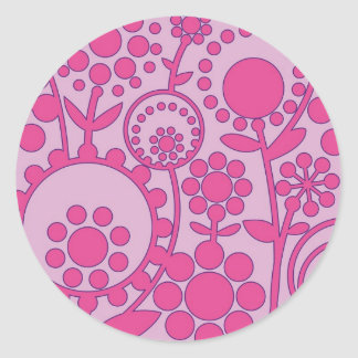 flowerpower 2 classic round sticker
