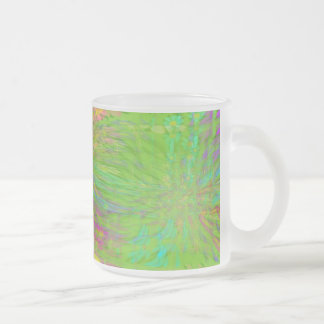 FlowerPowered Crystalized Frosted Glass Mug