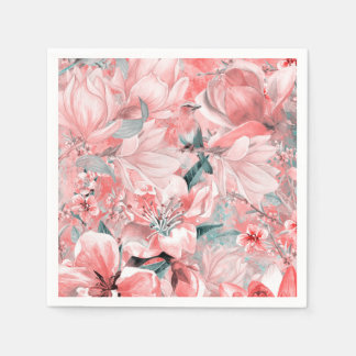 flowers2bflowers and birds pattern #flowers disposable serviettes