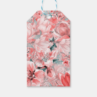 flowers2bflowers and birds pattern #flowers gift tags