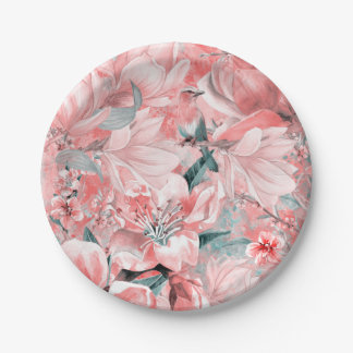 flowers2bflowers and birds pattern #flowers paper plate