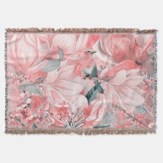 flowers2bflowers and birds pattern #flowers throw blanket