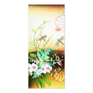 Flowers 10 Cm X 24 Cm Invitation Card