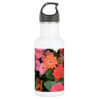Flowers 15 framed version, colorful flowers bloomi 532 ml water bottle