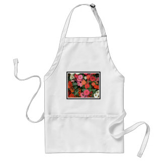 Flowers 15 framed version, colorful flowers bloomi adult apron