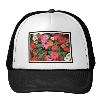 Flowers 15 framed version, colorful flowers bloomi mesh hat